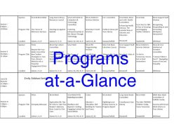 Programs-at-a-Glance spreadsheet